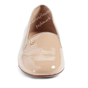 Tory Burch Samantha nude Leather flats loafers 7.5